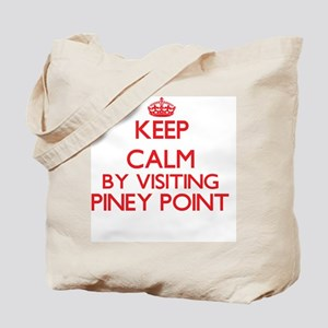 Keep calm by visiting Piney Point Massach Tote Bag