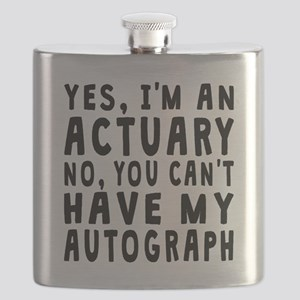Actuary Autograph Flask