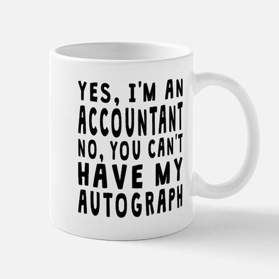 Accountant Autograph Mugs