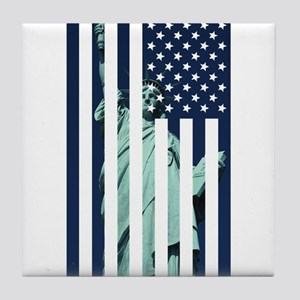 Liberty Flag Tile Coaster