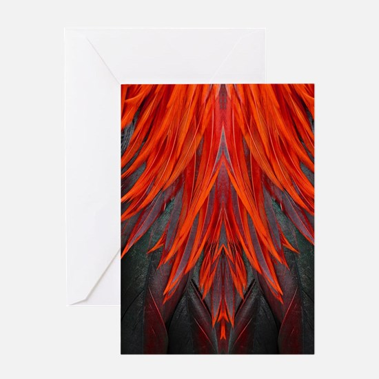 Abstract Feathers Greeting Card