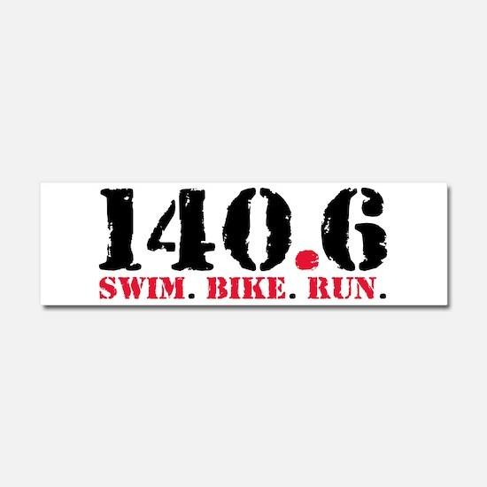 140.6 Swim Bike Run Car Magnet 10 x 3