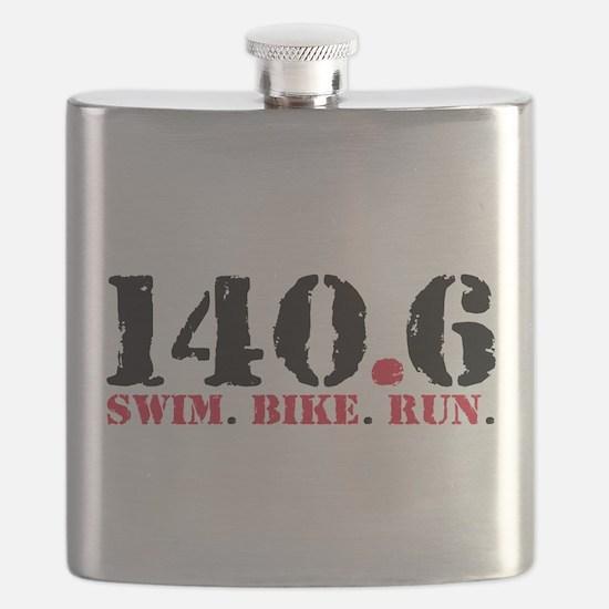 140.6 Swim Bike Run Flask