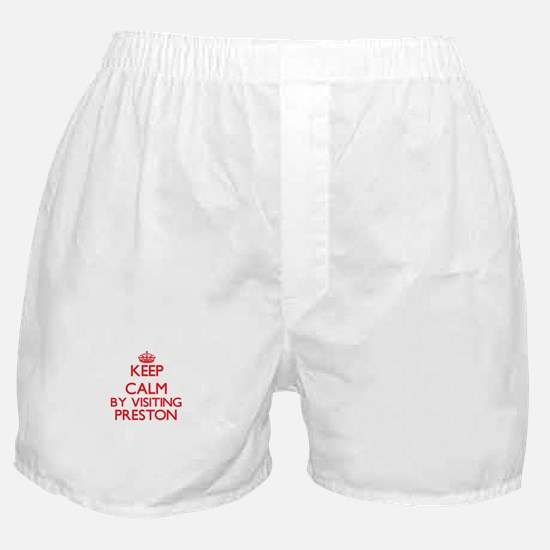 Keep calm by visiting Preston Massach Boxer Shorts