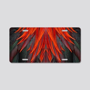 Abstract Feathers Aluminum License Plate