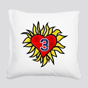 Flaming Heart 3 Square Canvas Pillow