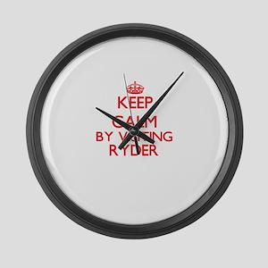 Keep calm by visiting Ryder Massa Large Wall Clock