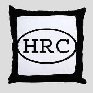 HRC Oval Throw Pillow