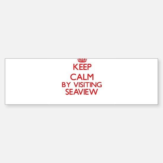 Keep calm by visiting Seaview Massa Bumper Bumper Bumper Sticker