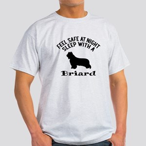 Sleep With Briard Dog Designs Light T-Shirt