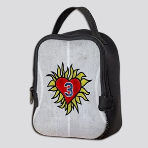 Flaming Heart 3 Neoprene Lunch Bag