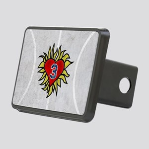 Flaming Heart 3 Rectangular Hitch Cover
