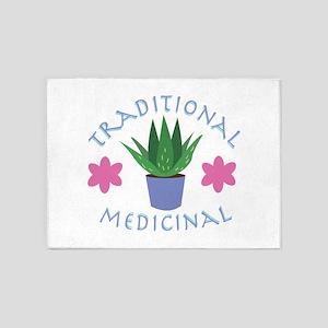 Aloe Plant Traditional Medicinal 5'x7'Area Rug