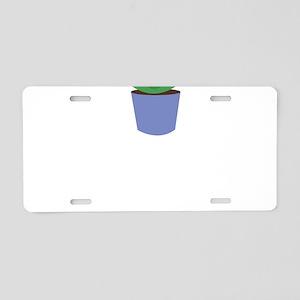 Aloe Plant Aluminum License Plate
