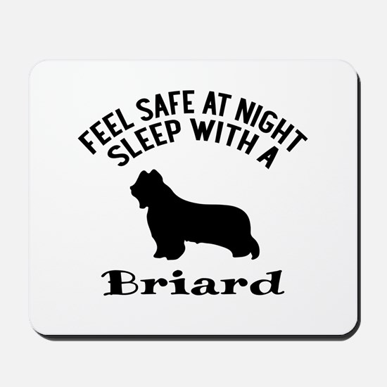 Sleep With Briard Dog Designs Mousepad