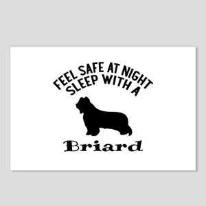 Sleep With Briard Dog Des Postcards (Package of 8)