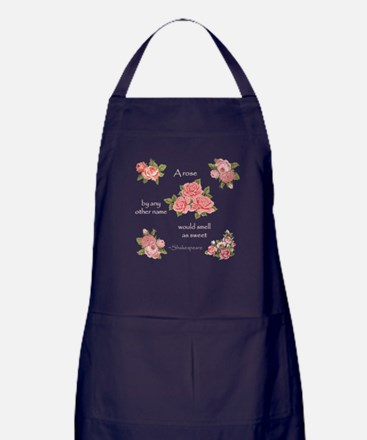 a rose by any other name Apron (dark)