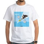 Fish vs Bird White T-Shirt