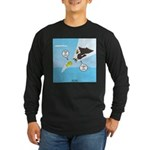 Fish vs Bird Long Sleeve Dark T-Shirt
