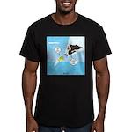 Fish vs Bird Men's Fitted T-Shirt (dark)