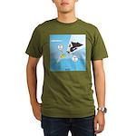 Fish vs Bird Organic Men's T-Shirt (dark)