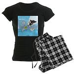 Fish vs Bird Women's Dark Pajamas