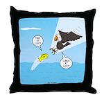 Fish vs Bird Throw Pillow