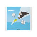 Fish vs Bird Throw Blanket