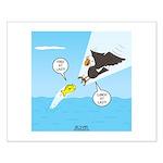 Fish vs Bird Small Poster