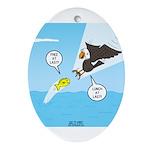 Fish vs Bird Ornament (Oval)