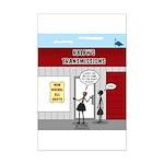 Hiring All Shifts Mini Poster Print