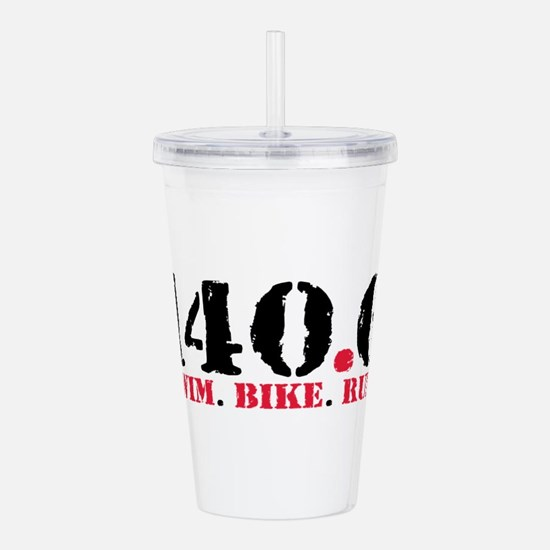 140.6 Swim Bike Run Acrylic Double-wall Tumbler
