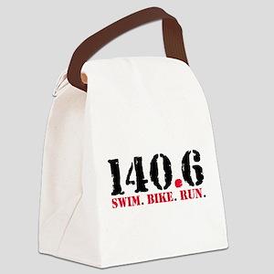 140.6 Swim Bike Run Canvas Lunch Bag
