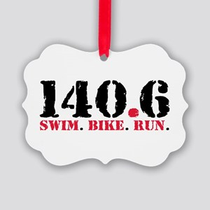 140.6 Swim Bike Run Picture Ornament