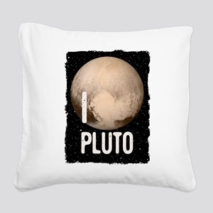 I Cardiac Pluto Square Canvas Pillow