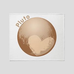 Cute Pluto Heart Throw Blanket