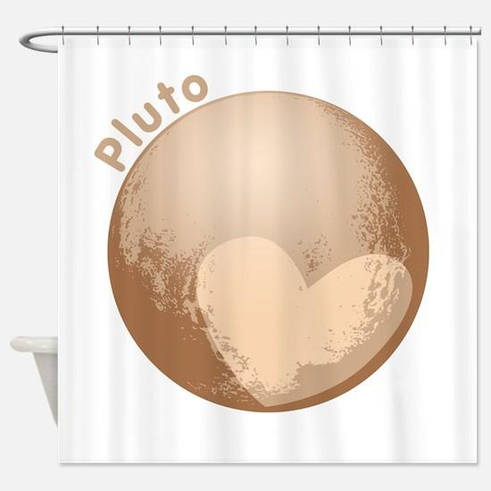 Cute Pluto Heart Shower Curtain