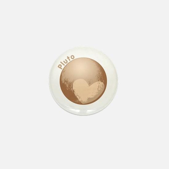 Cute Pluto Heart Mini Button