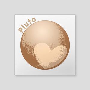 """Cute Pluto Heart Square Sticker 3"""" x 3"""""""