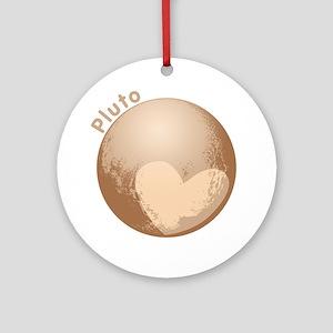 Cute Pluto Heart Ornament (Round)