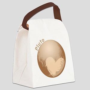 Cute Pluto Heart Canvas Lunch Bag