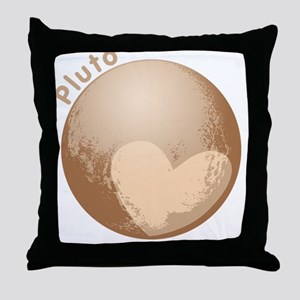Cute Pluto Heart Throw Pillow