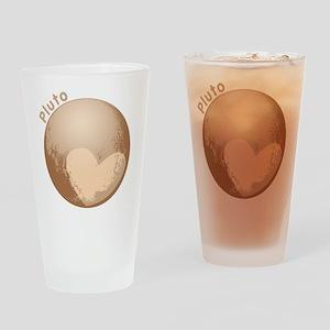 Cute Pluto Heart Drinking Glass
