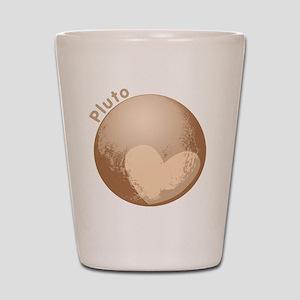 Cute Pluto Heart Shot Glass