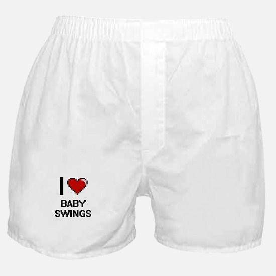 I Love Baby Swings Digitial Design Boxer Shorts