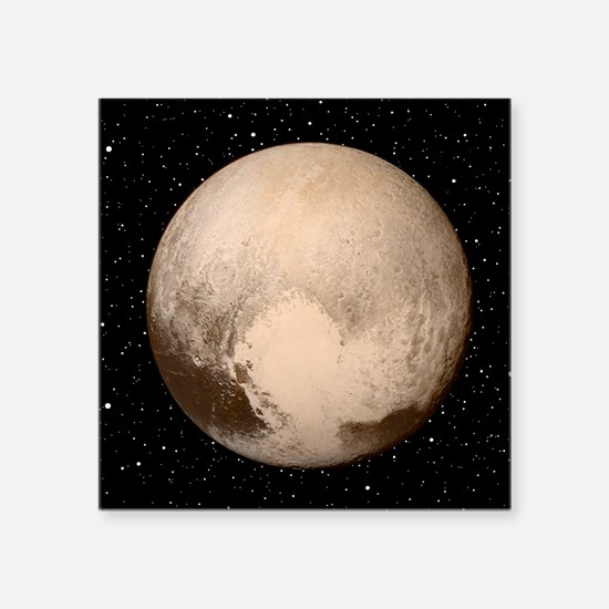 """Pluto Square Sticker 3"""" x 3"""""""