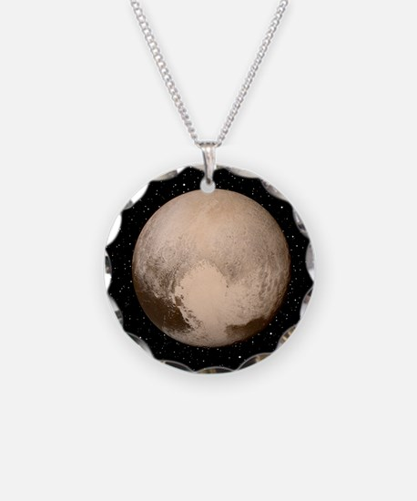Pluto Necklace Circle Charm
