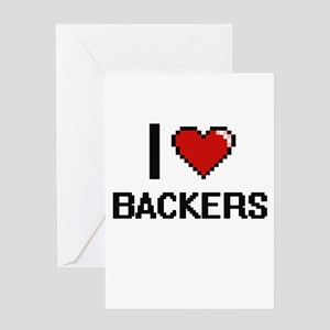 I Love Backers Digitial Design Greeting Cards