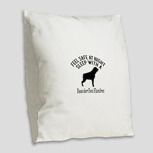 Sleep With Bouvier des Flandre Burlap Throw Pillow
