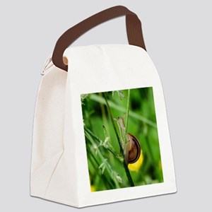 Happy Snail Canvas Lunch Bag